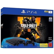 PlayStation 4 1 TB Slim + Call of Duty: Black Ops 4 + 2 DualSchock4 Controller (USK)