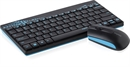 Rapoo - 8000 - Black/Blue - Wireless Deskset