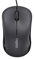 Rapoo - N1130 - Grey - Optische Mouse, 1000 dpi, 3 Tasten, Kabel**