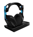 Astro Gaming A50 Headset, Wireless Dolby 7.1 Black - Blue inkl. wireless MixAmp (PS4, PS3, PC, MAC)