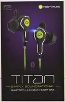 ready2music Titan BT 4.1 inEar Kopfhörer, black/green