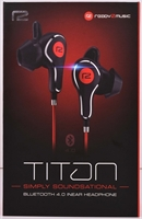ready2music Titan BT 4.1 inEar Kopfhörer, black/red